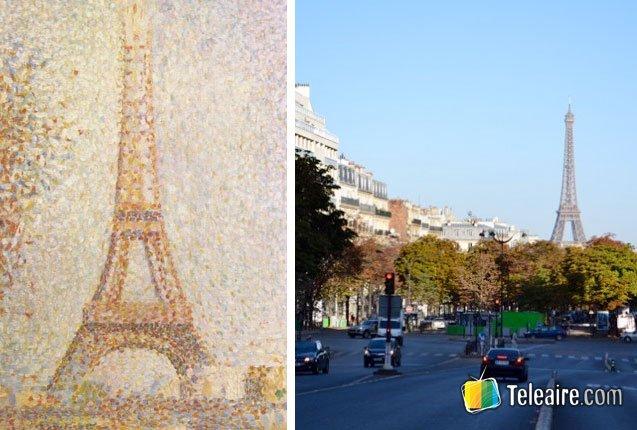 La obra de Georges Seurat sobre la Torre Eiffel