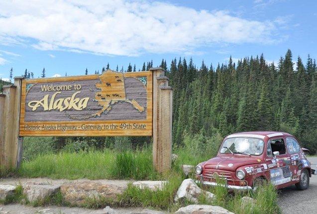 El primer Fiat 600 en Alaska
