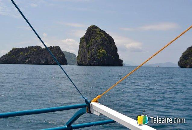 increible vista de las islas palawan
