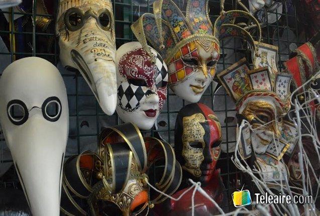 detalle de mascaras de venecia