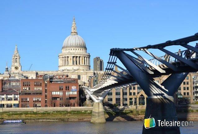 el Puente Milenio en Londres