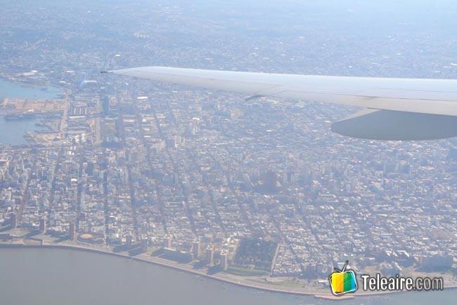 avion desde las alturas