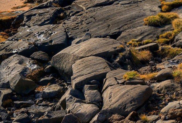 rocas originarias de Islandia