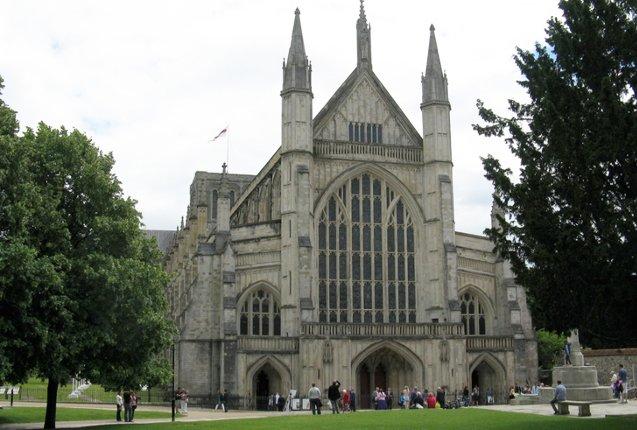 La famosa catedral de Winchester