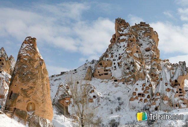 detalle del bello castillo de uchisar