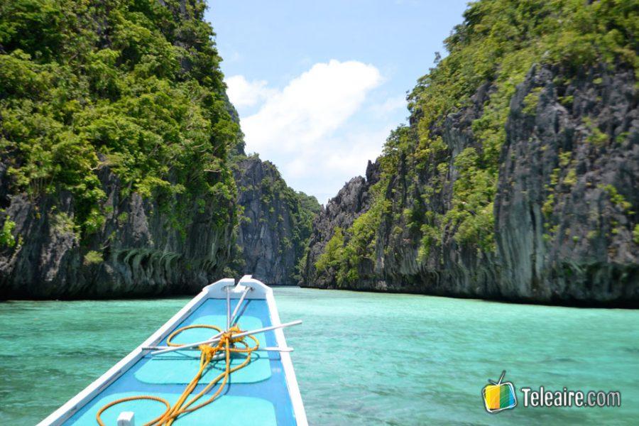 De aquí salen los bangkas que conducen a las diferentes playas y lagoons