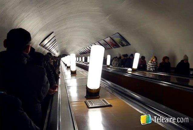 interior del metro de moscu