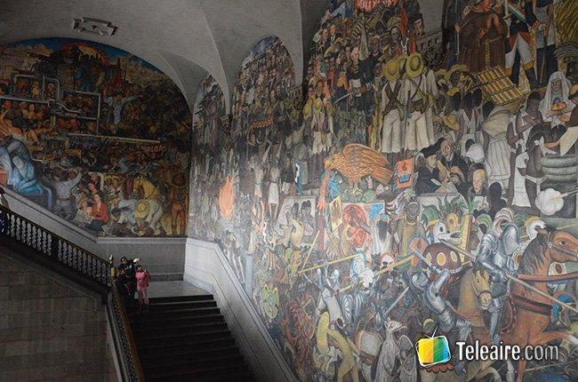 Diego Rivera-mural.Secretaría de Educación Pública