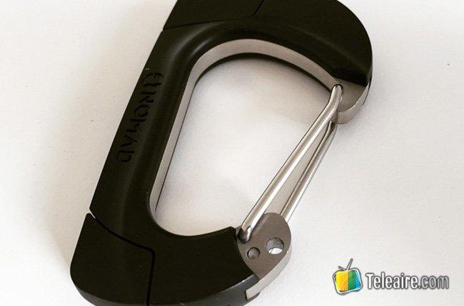 NomadClip: el mosquetón inteligente