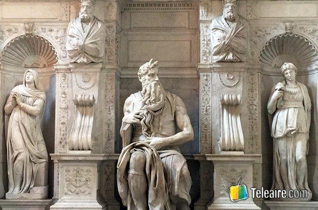 El Moisés de Miguel Ángel está en Roma