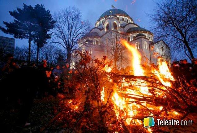 celebracion de la navidad en Belgrado