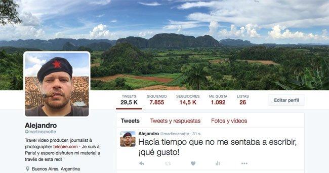 Perfil de MartinezNotte en Twitter