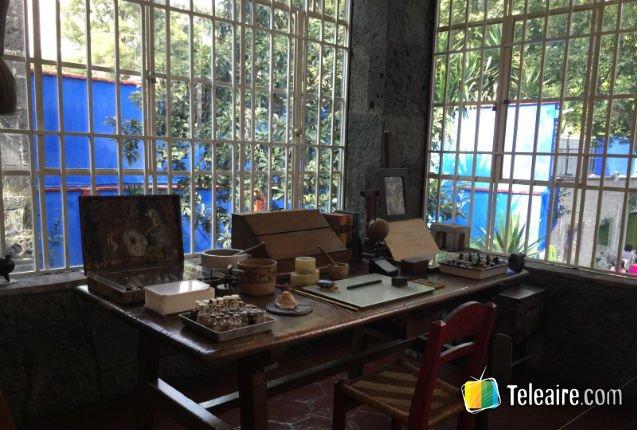 Estudio de Frida Kahlo, museo de México