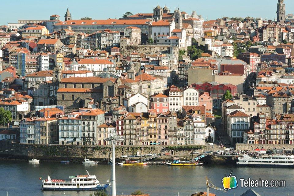 Vista del centro histórico de Oporto, declarado patrimonio mundial por la UNESCO