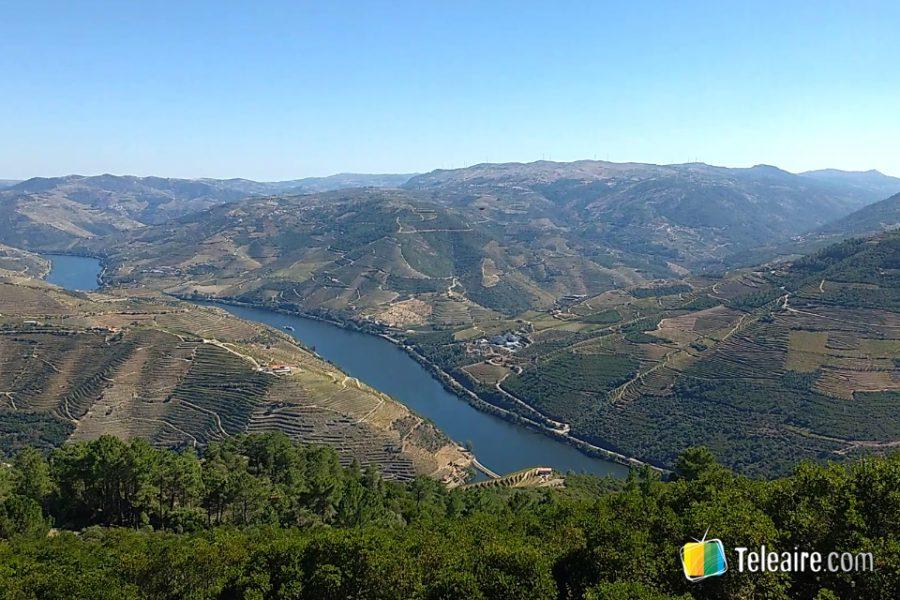 Vista del valle del Douro desde el mirador de Galafura