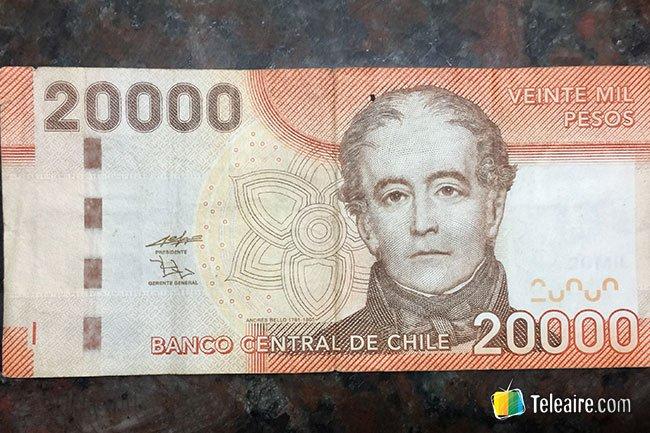 veinte mil pesos chilenos