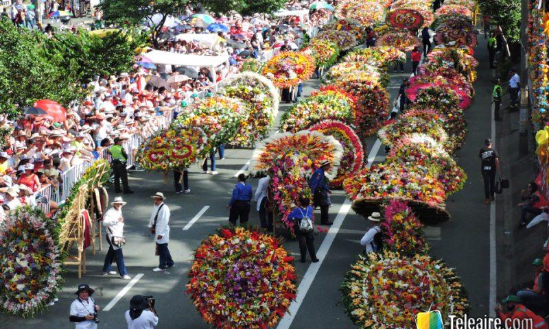 En la edición 2017 desfilaron más de 500 silleteros, y asistieron unas 800.000 personas.