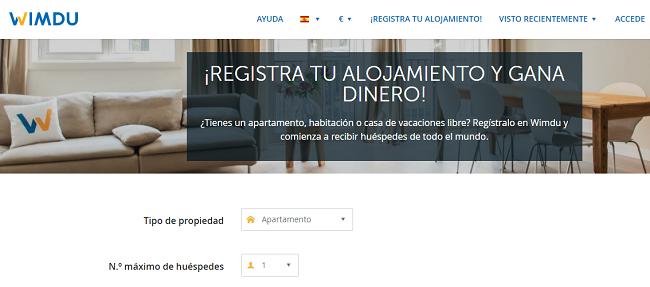 wimdu web alojamiento