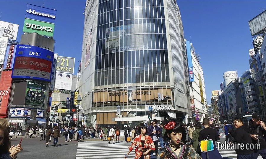 EL cruce peatonal SHibuya en Tokio