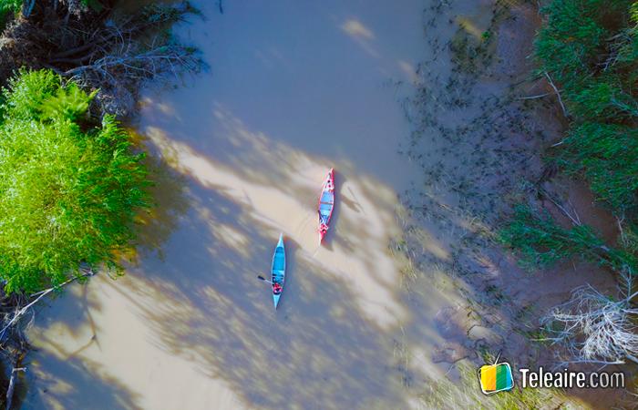 Paseo en canoa por el delta del tigre