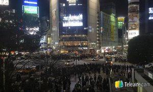 Shibuya scramble en Tokyo, el mayor cruce peatonal del mundo