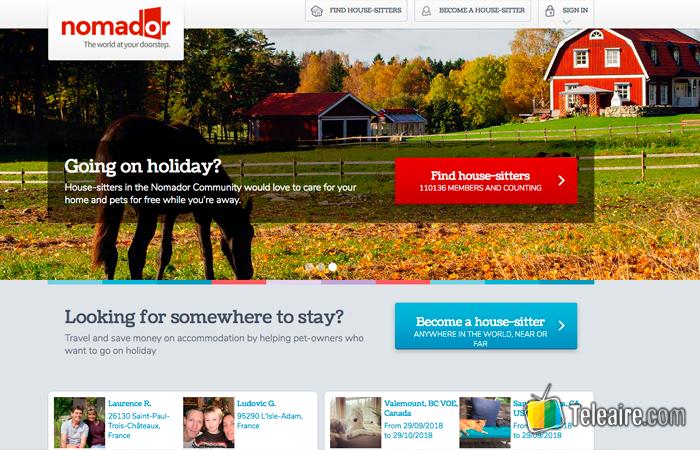 Web Nomador para Housesitting