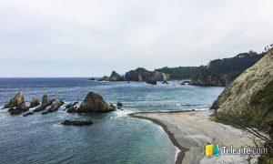 Playa de La Gueirúa, Asturias, España