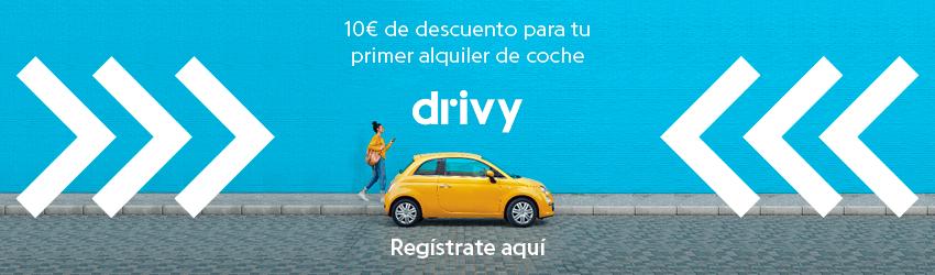 descuento de 10 euros en la primer reserva con Drivy