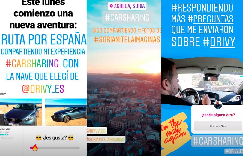 Historia destacada en Instagram del roadtrip por España