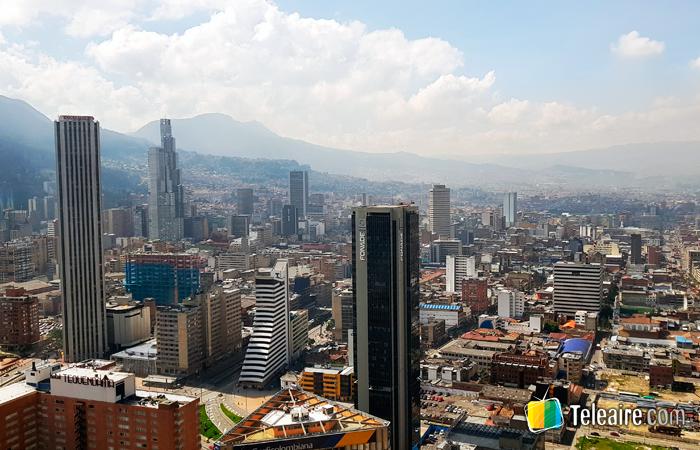 Webcam desde la ciudad de Bogotá en Colombia