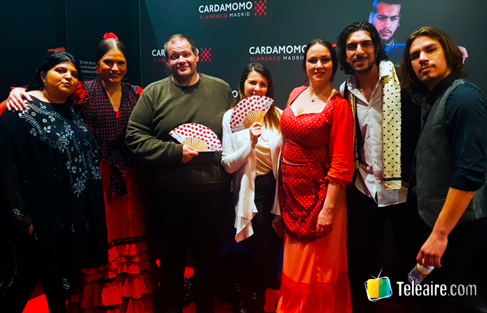 Junto a Ceci Saia y el elenco del Tablado Flamenco Cardamomo en Madrid