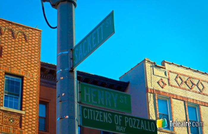 La esquina de la locación de la película Moonstruck en Nueva York