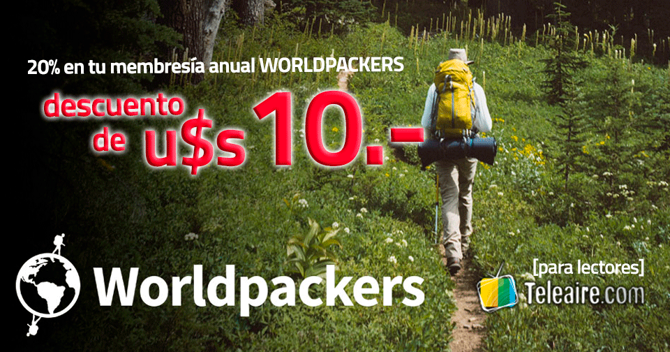 Descuento en membresia anual WorldPackers