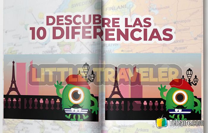 10 diferencias: actividad para viajes con niños