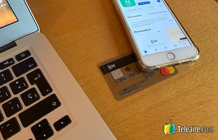 Tarjeta prepago MasterCard N26, sin comisiones