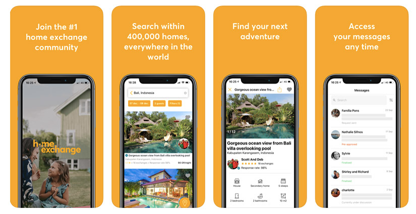 Intercambio de casas mediante APP de Home Exchange