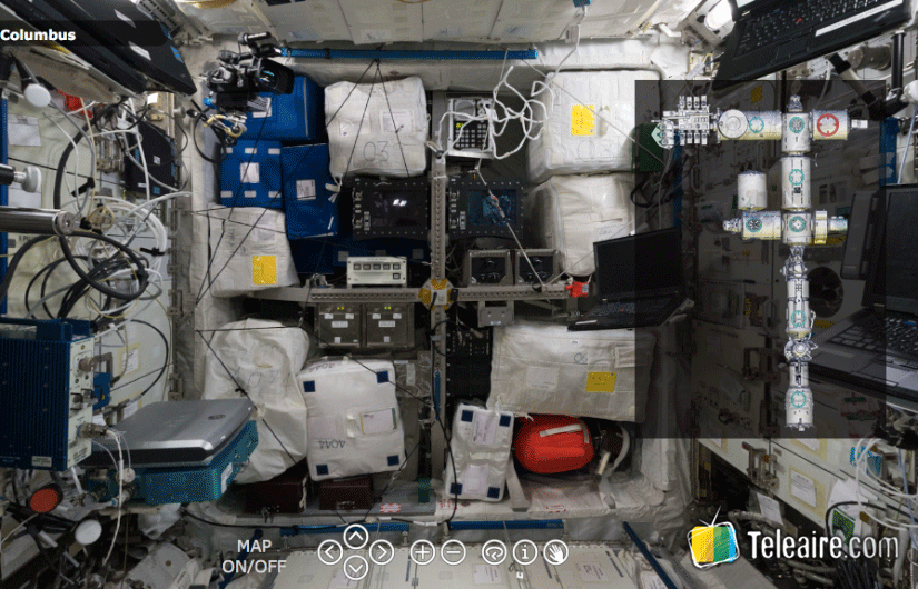 Visitas virtuales en el espacio