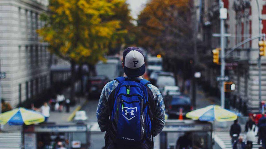 mochila para un fin de semana en la ciudad
