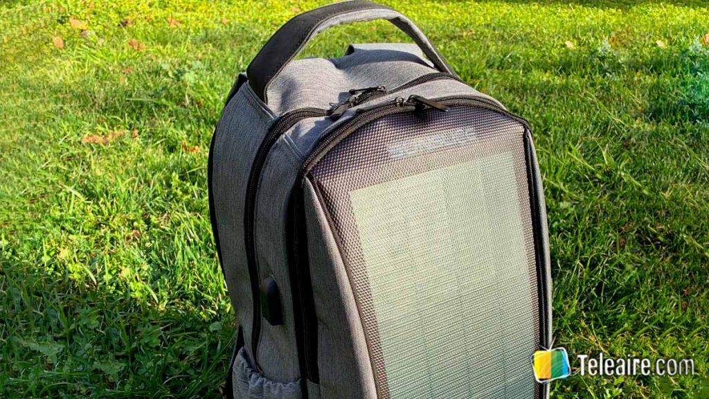 Mochila para un fin de semana con panel solar Sunslice Zenith
